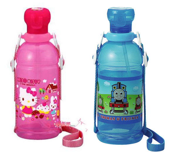 海渡-日本製湯瑪士061349KITTY小兔便利吸管水壺076237