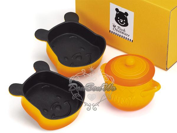 海渡-迪士尼小熊維尼臉型焗烤飯酥皮濃湯不沾邊陶瓷模型模具烤盤272220