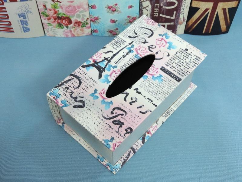 ◤彩虹森林◥《南法》 書本面紙盒 木製皮革面紙盒 鄉村面紙盒 磁扣式 收納盒 發票桶 鄉村英倫風