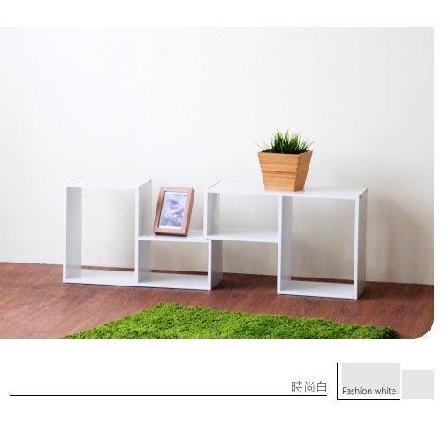 生活大發現-H-時尚白水漾L型百變收納櫃(二入) /收納/書櫃/台灣製造