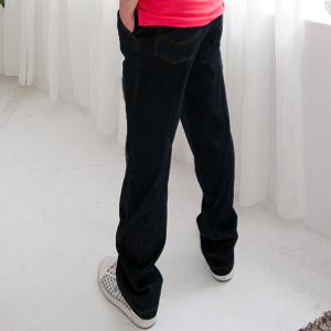【魔法施】AYBORTEH超彈力輕量保暖【公司㊣貨】中高腰中直筒牛仔褲