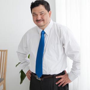 【魔法施】帥勁有型超大尺碼紳士【公司㊣貨】黑條紋白色長襯衫 (19_20領圍)