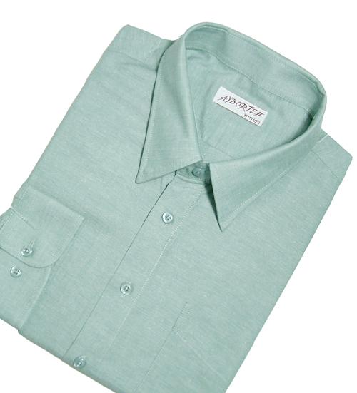 【魔法施】AYBORTEH★加大碼 M~2L★舒適透氣!高級牛津布素色長袖襯衫