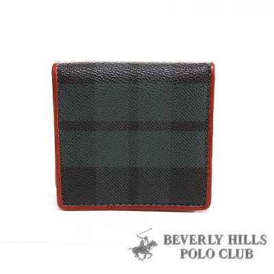 【魔法施】B.H POLO 綠格 ★ 方形扣式零錢包  BH-2043 ★ 超值免運