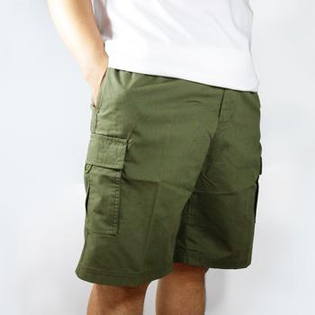 【魔法施】世界知名品牌PEYTON超大尺碼新潮派寬鬆【深軍綠】貼袋型男短褲