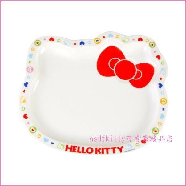 asdfkitty可愛家☆KITTY愛心系列淺瓷盤/餐盤-JS130-1-日本製
