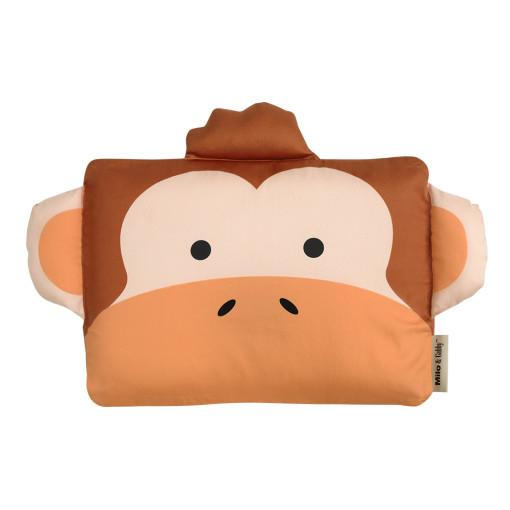 ★衛立兒生活館★Milo & Gabby 動物好朋友-嬰兒枕頭套(MICHAEL猴子)