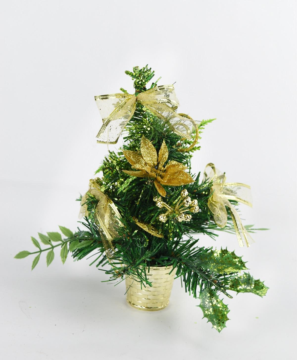 X射線【X454011】20cm裝飾聖誕樹(金),聖誕樹/聖誕佈置/聖誕燈/會場佈置/材料包/成品樹/小樹