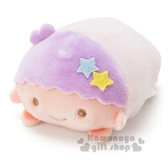 〔小禮堂〕雙子星 KiKi  造型絨毛沙包娃娃《S.紫.趴姿》多個可堆疊