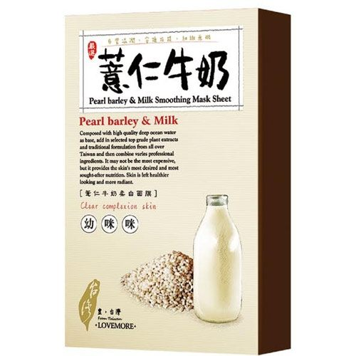 *面膜 3件419*愛戀膜法豐台灣薏仁牛奶面膜5入《康是美》