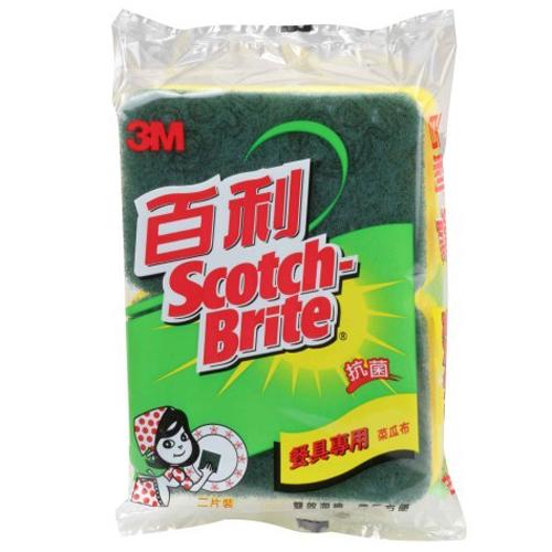 3M百利餐具專用菜瓜布-雙效海綿(2入)《康是美》