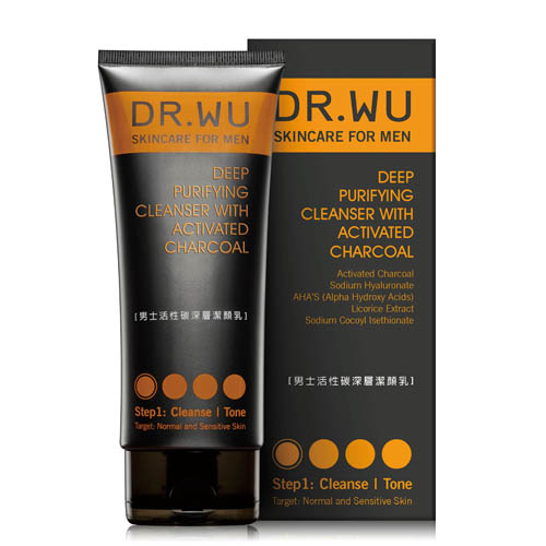 DR.WU男士活性碳深層潔顏乳150ML《康是美》