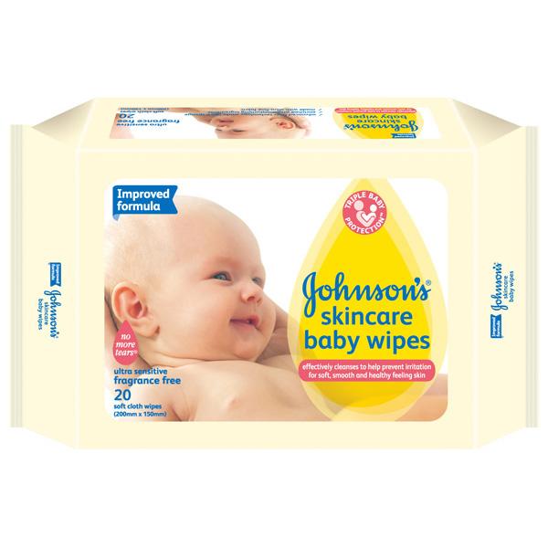嬌生嬰兒護膚柔濕巾外出包20片《康是美》