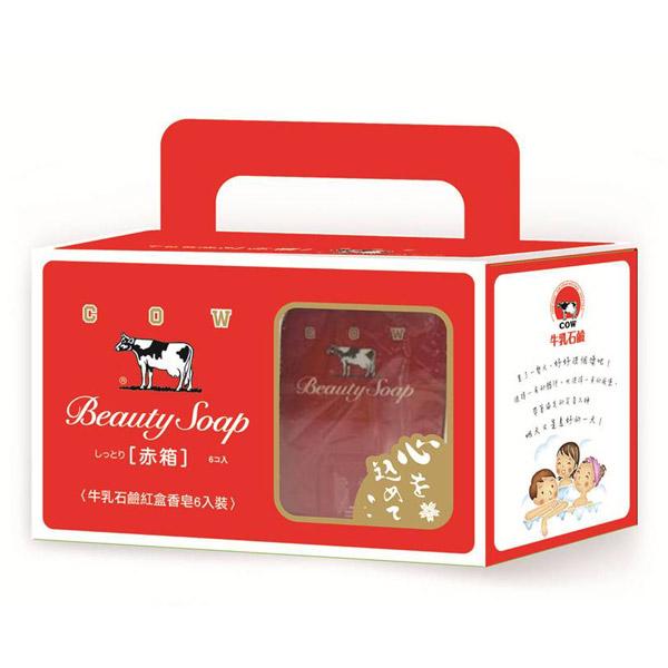 *優惠促銷*牛乳石鹼紅盒香皂6入+無痕皂架《康是美》