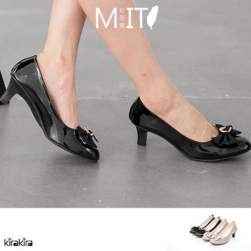 高跟鞋  SALE 優雅蝴蝶結軟鏡面高跟鞋【011500918】