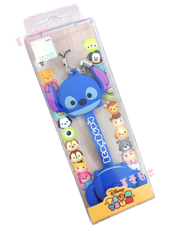 【真愛日本】16072200002吊飾捲線器-史迪奇   迪士尼 星際寶貝 史迪奇 耳機集線器 收線器 正品