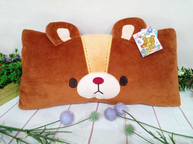 ~*My 71*~  絨毛娃娃  12吋 發條熊 雙人枕 長 45cm  卡通枕 兒童枕  日本 Truffe熊 車枕 抱枕