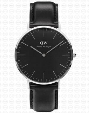 40MM 0133DW 黑錶面 真皮黑錶帶 瑞典正品代購 Daniel Wellington 男錶手錶腕錶
