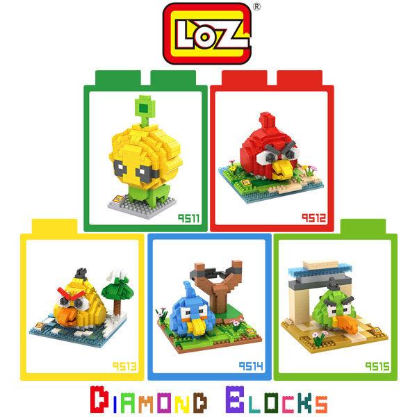 ~斯瑪鋒數位~LOZ 鑽石積木 9511 - 9515 動漫系列 長江七號 紅色鳥 黃色鳥 藍色鳥 綠色鳥