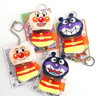 =優生活=日本anpanman 麵包超人 細菌超人毛绒鑰匙扣 鑰匙包 鑰匙圈 鑰匙包 背包小掛件