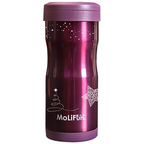 MoliFun魔力坊 不鏽鋼雙層高真空附專利濾網保溫杯瓶350ml(MF0350VS/MF0350GS)