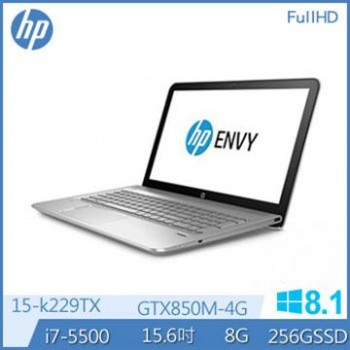HP ENVY 15-k229TX 4G獨顯 FHD15.6吋電競筆電  i7-5500U/8Gx1 DDR3L/256GB  SSD/ GTX 850M 4GB/Windows 8.1 64 bit