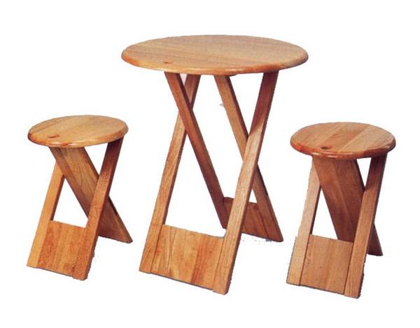 米詩蘭嚴選  原木手提桌椅組