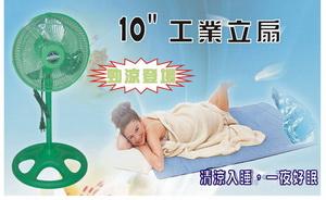【台灣製造】10吋工業立扇(綠色)