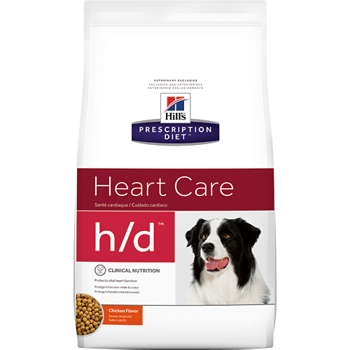 Hill's希爾思處方飼料│心臟護理 犬用h/d 狗HD 17.6LB/17.6磅/8KG  (似皇家處方EC26)