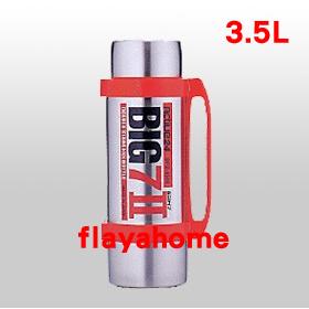 《富樂雅居》日本製 BIG77 不鏽鋼真空保溫瓶 紅色 / 3.5 L
