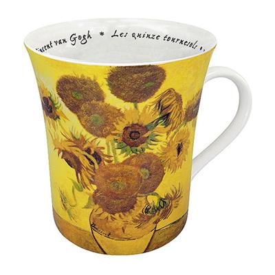 《富樂雅居》德國Konitz藝術家系列~梵谷 Vincent van Gogh 向日葵 馬克杯 拿鐵杯