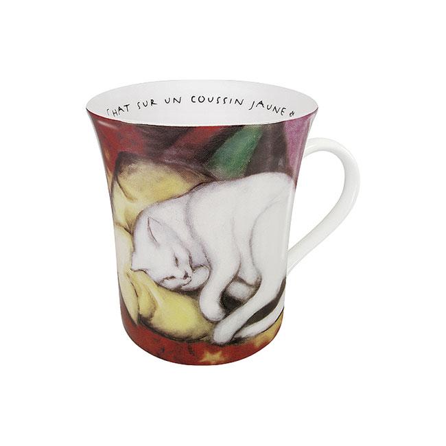 《富樂雅居》德國Konitz拿鐵杯-馬爾克 黃枕頭上的貓 (Franz Marc/Chat Sur Un Coussin Jaune)