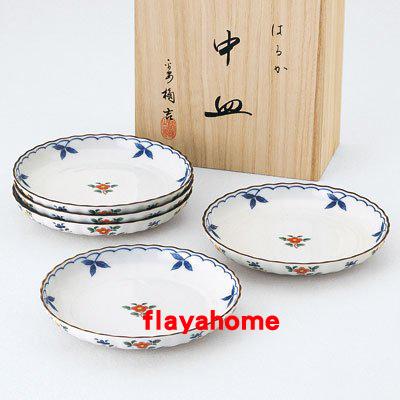《富樂雅居》日本製 NARUMI 鳴海製陶 はるか 五入盤組 ( 5入 )