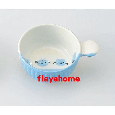 《富樂雅居》日本製 萬古燒 小貓 陶瓷焗烤盤 (圓)