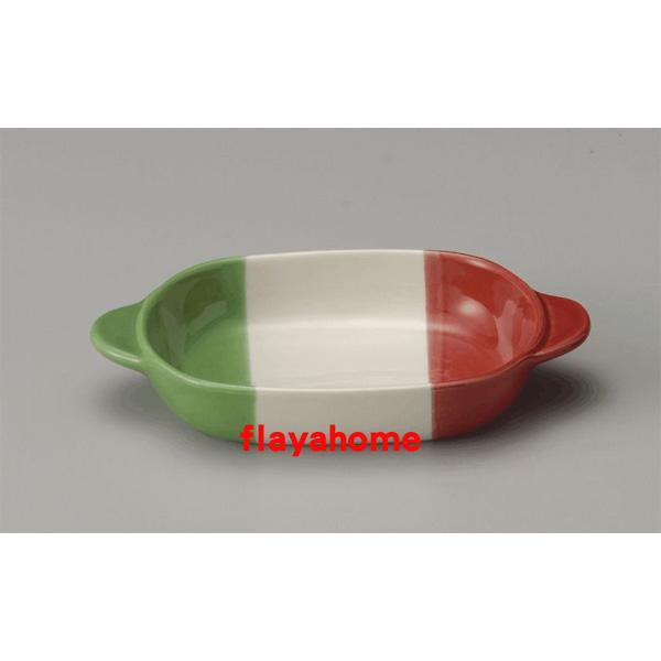 《富樂雅居》日本製 萬古燒 義大利 陶瓷焗烤盤 烤缽 (橢圓)