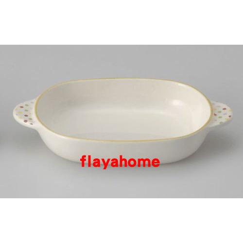 《富樂雅居》日本製 萬古燒 水玉橘邊 陶瓷焗烤盤 烤缽 (橢圓)