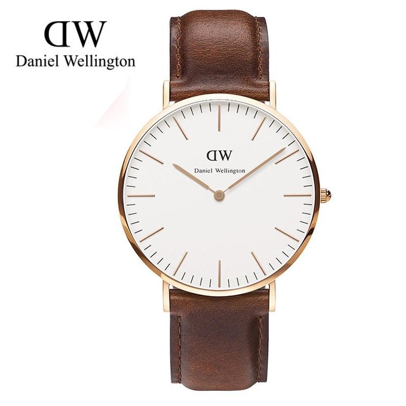 瑞典正品代購 Daniel Wellington 0106DW 玫瑰金 真皮 錶帶 男女錶 手錶腕錶 40MM