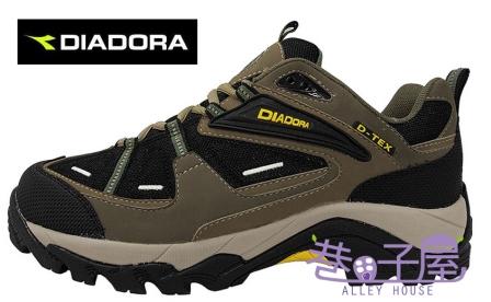 【巷子屋】義大利國寶鞋-DIADORA迪亞多納 男鞋防潑水寬楦戶外越野運動鞋 [7135] 黑 超值價$826