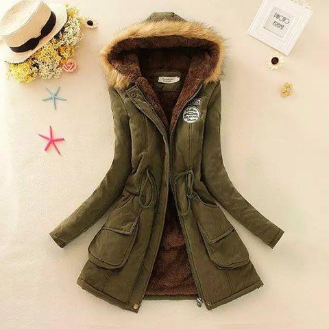 Ms.Perfect 冬季熱賣連帽中長款毛領羊羔絨抽繩大碼外套