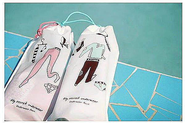 BO雜貨【SP1174】韓版旅行收納袋(內衣款2枚入) 旅遊 旅行收納包 旅行包包 束口袋 旅行用品