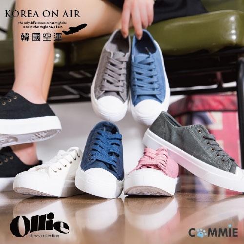 帆布鞋-Ollie正韓經典款素面低統帆布鞋.寶貝窩.【OE1205】(預購)