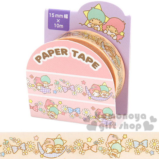 〔小禮堂〕雙子星 手作紙膠帶《15mm.粉.碎花.蝴蝶結》添增可愛氣氛