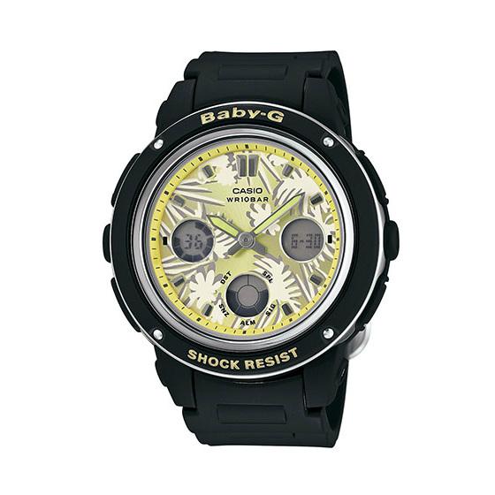 CASIO BABY-G BGA-150F-1A 香草檸檬雙顯流行腕錶/黃面42.8mm