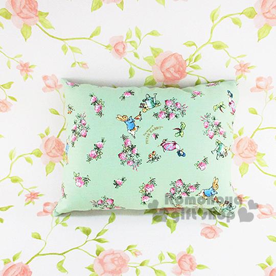 〔小禮堂〕彼得兔 長方型抱枕《小.綠.花朵滿版》可抱.可躺.可靠