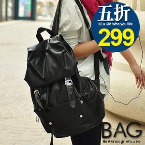 B.A.G*現貨秒發*【BT-FPPU】韓版亮面皮質感後背包(現+預)-2色