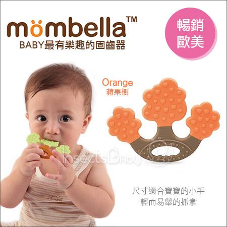 +蟲寶寶+【Mombella】樂咬咬蘋果樹固齒器-橘色《現+預》