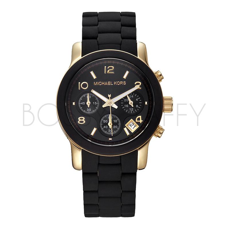 MK5191 MICHAEL KORS 黑膠包鋼中性錶