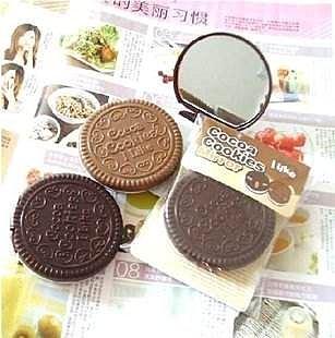 =優生活=日本雜誌超人氣 超逼真巧克力夾心餅乾化妝鏡 隨身鏡