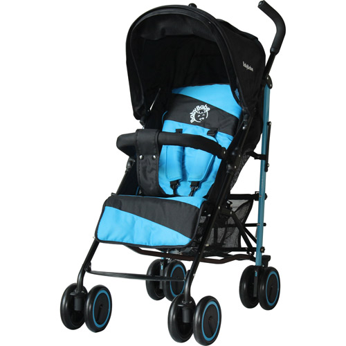 【奇買親子購物網】BabyBabe 加寬全罩平躺傘車(藍色/紅色)