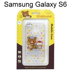 拉拉熊 透明軟殼 Samsung G9200 Galaxy S6 [K06] 懶懶熊【San-X正版授權】